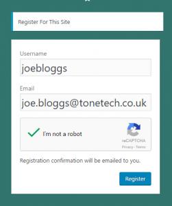 registration joe bloggs